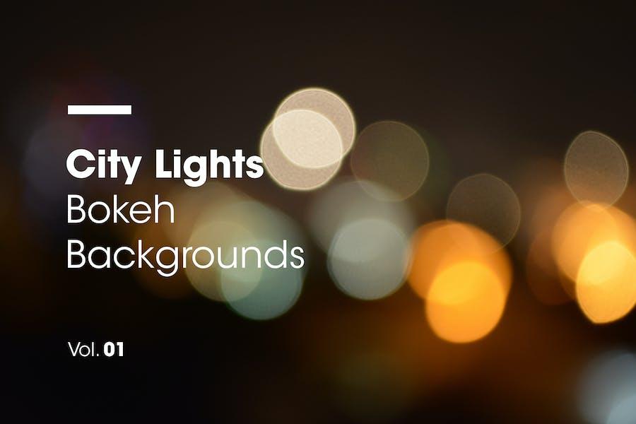 City Lights   Bokeh Backgrounds   Vol. 01