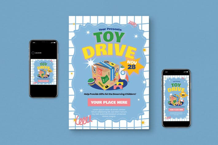 Thumbnail for Toy Drive Flyer Set