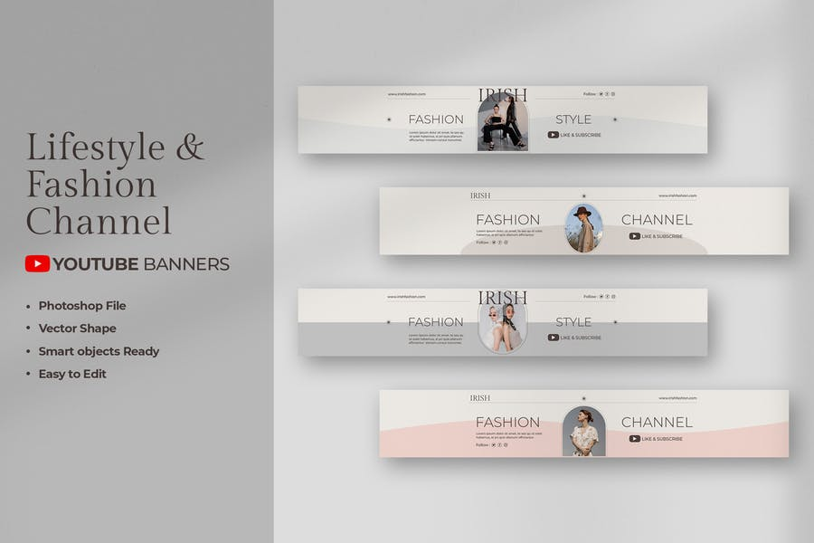Fashion & Lifestyle Youtube Banners
