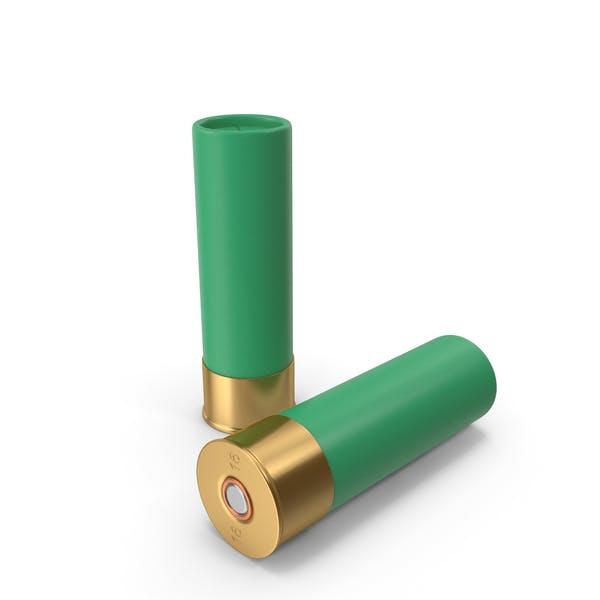 Cartuchos de escopeta verde