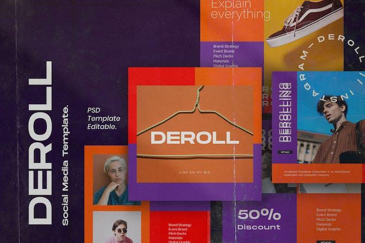 Thumbnail for DEROLL PACK 2- Instagram Vorlage + Strories