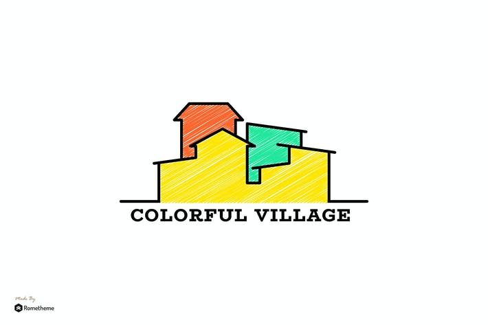Thumbnail for Colorful Village - Logo Template RB