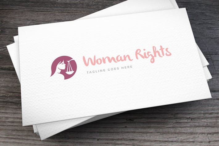 Thumbnail for Woman Rights Logo Template