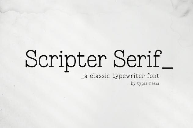 Scripter - Classic Typewriter Font