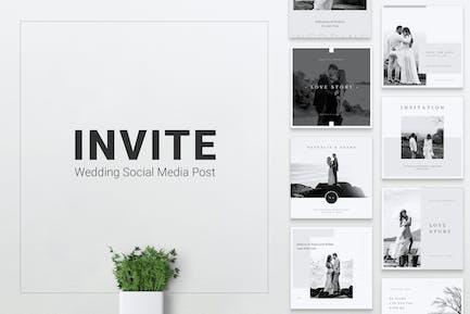 INVITE Wedding Instagram & Facebook Post