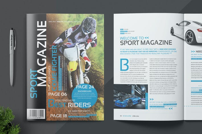 Cover Image For Magazine Template