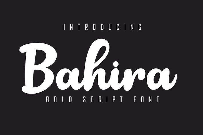Thumbnail for Bahira Bold Script Font