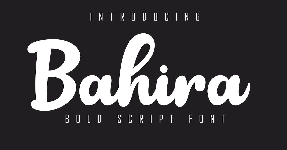 Download Bahira Bold Script Font by Skiiller_studio