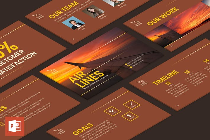 Thumbnail for Airlines Aviation PowerPoint Presentation Template