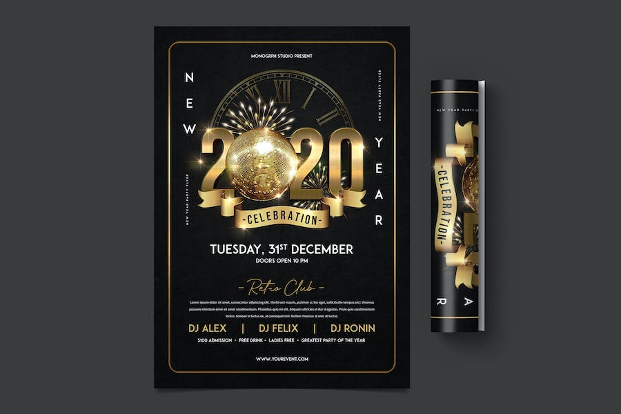 Silvester Party Flyer