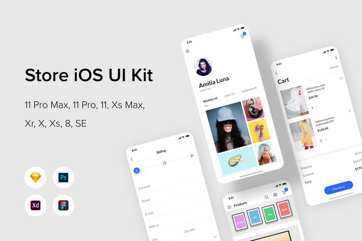 Thumbnail for Магазин iOS UI Kit