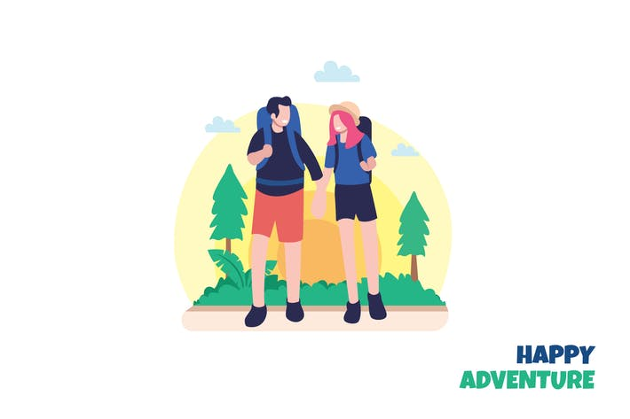 Thumbnail for Happy Adventure - Ilustration Template