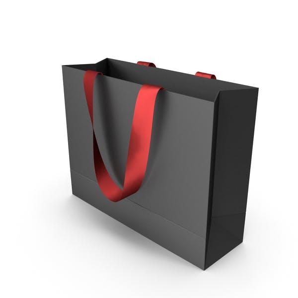 Черная упаковочная сумка с красными ручками