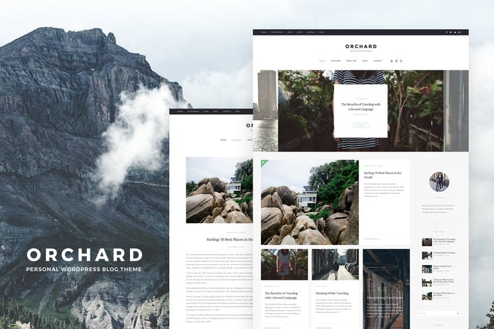 Thumbnail for Orchard - Personal WordPress Blog Theme