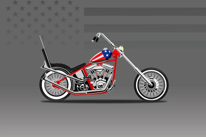 Thumbnail for American Bike - Vektor Illustration