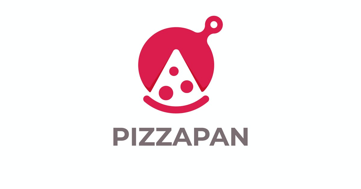Download Modern Pan Pizza Negative Space Logo by Suhandi