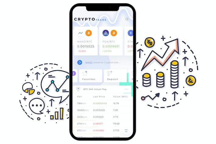 Thumbnail for Crypto Trade Home 3 Mobile Ui