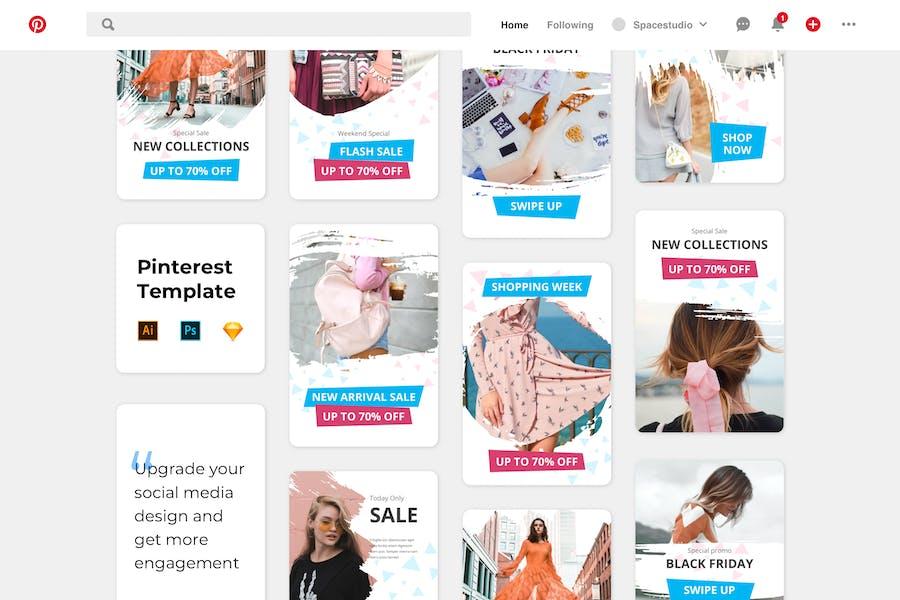 Pinterest Template Shop Sale Promotion