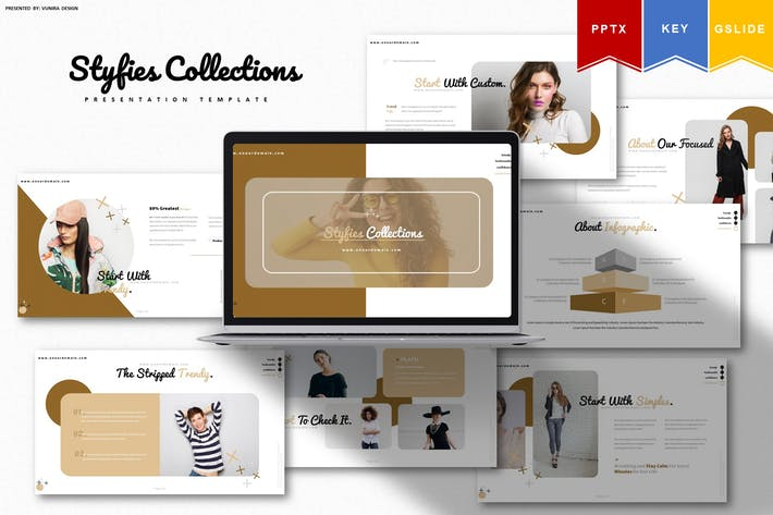 Thumbnail for Styfie Collection | Powerpoint, Key, Google Slides