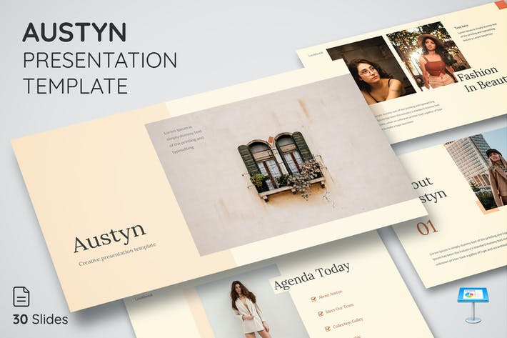 Thumbnail for Austyn - Keynote Presentation Template