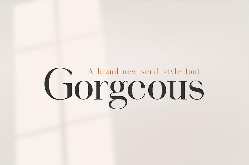 Gorgeous-Serif