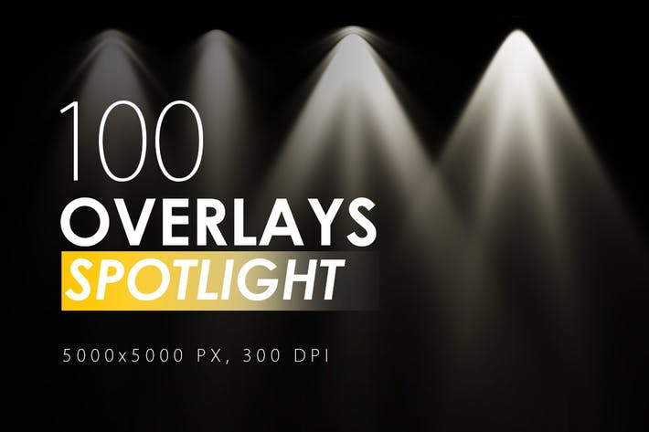 Thumbnail for 100 Spotlight Overlays