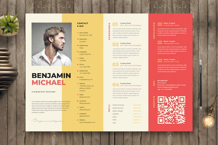 Thumbnail for Creative Resume / CV Template 50