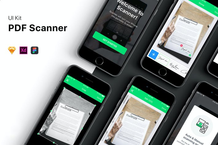 Thumbnail for PDF Scanner UI Kit