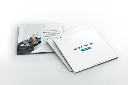Annual Report Square Brochure Template