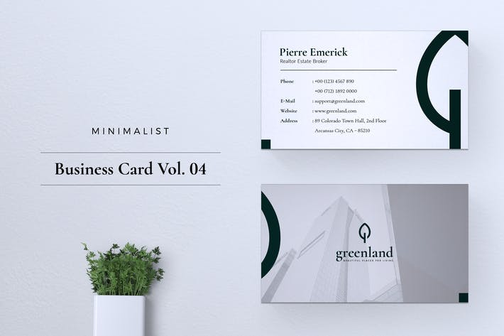 Thumbnail for Minimalist Business Card Vol. 04