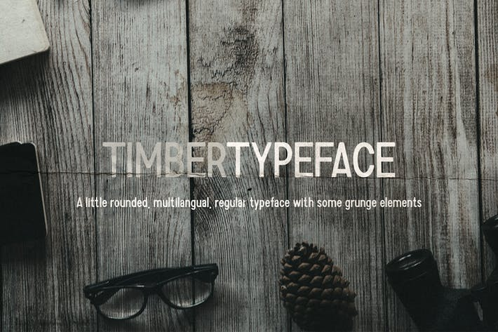 Thumbnail for Timber Typeface