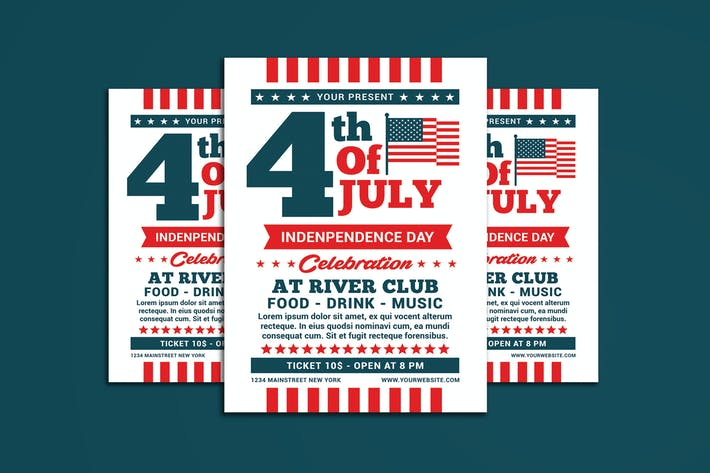 Thumbnail for 4th of July Flyer Template