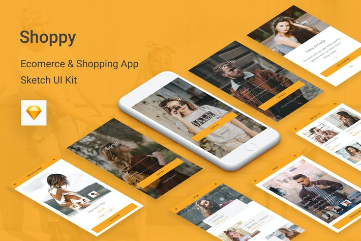 Thumbnail for Shoppy - Ecommerce Mobile App for Sketch