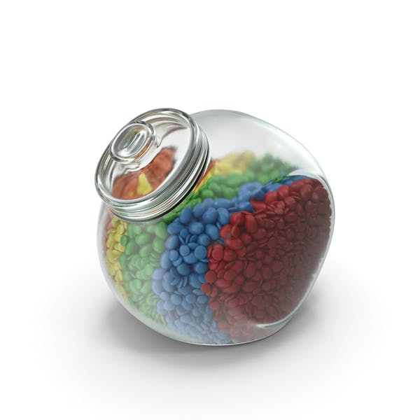 Thumbnail for Spherical Jar with Mixed Color Coated Chocolate Candy