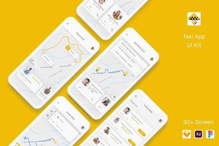 Thumbnail for Yunu - Taxi App UI Kit