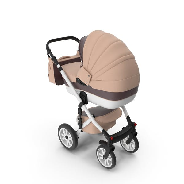 Baby Stroller Beige Brown