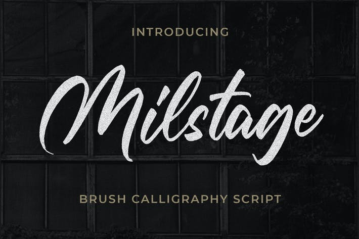 Thumbnail for Milstage - Brush Calligraphy Script
