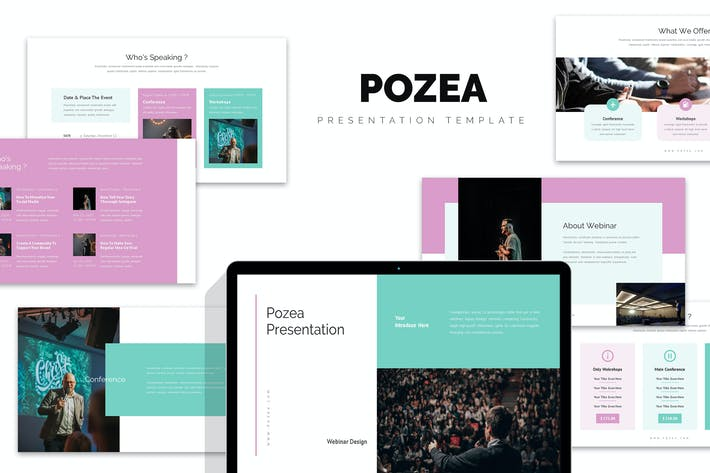 Thumbnail for Pozea : Webinar, Seminar & Conference Powerpoint