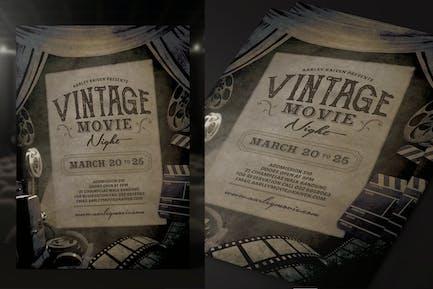 Vintage Movie Night Flyer