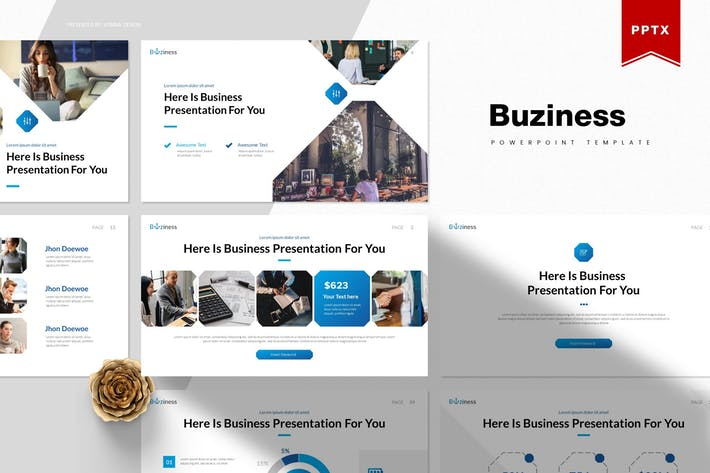 Thumbnail for Buziness | Powerpoint Template