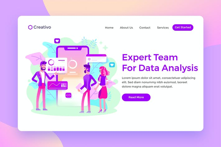 Thumbnail for Expert Team Data Analysis Services Landing Page