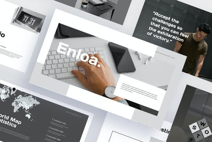 Enloa - Шаблон Keynote образа жизни