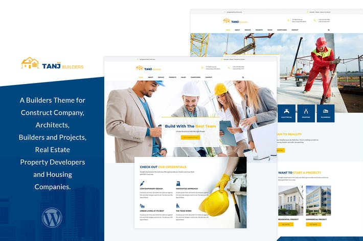 Thumbnail for Tanj - Architecture, Construction WordPress Theme