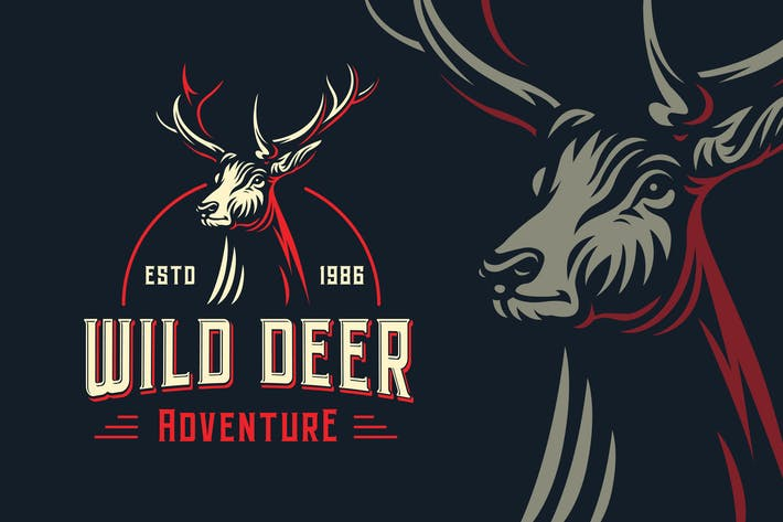 Thumbnail for Wild Deer Outdoor Logo Template