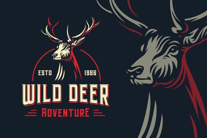 Thumbnail for Wild Deer Outdoor Logovorlage