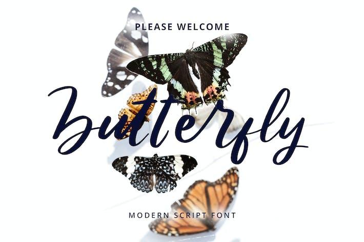 Thumbnail for Butterfly Modern Script Font