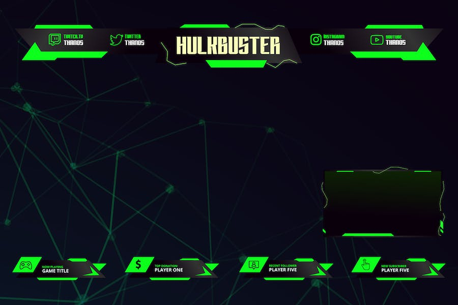 Buster - Twitch Overlay Template