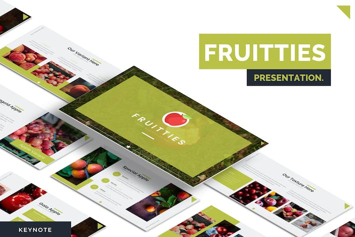 Thumbnail for Fruitties - Keynote Template