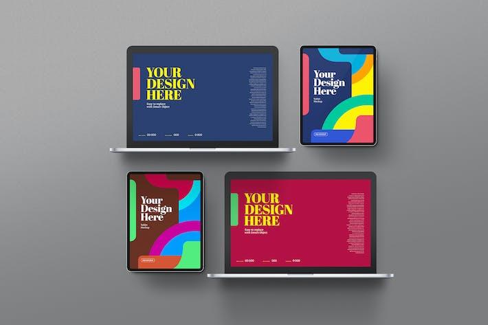 Thumbnail for Laptop & Tablet Pro Mockups