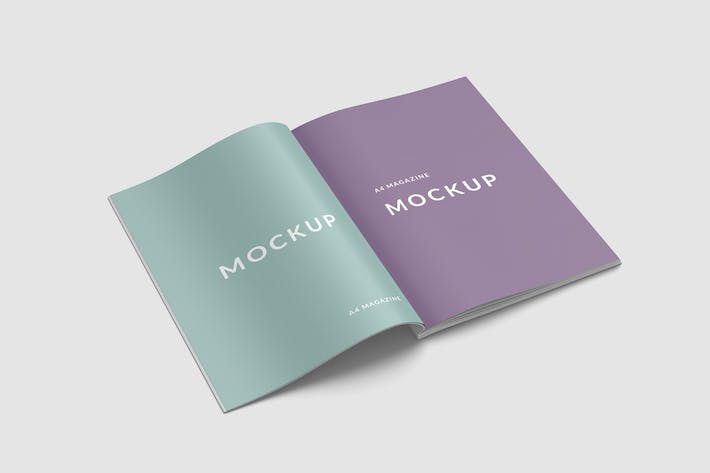Thumbnail for A4 and US Letter Sizes Magazine Mockups